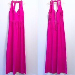 Amanda Uprichard Silk Pink Maxi Dress